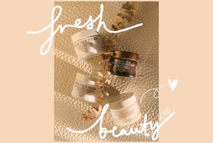 Fresh Beauty's sugar face polish, black tea firming overnight mask, rose face mask and lotus youth preserve rescue mask - WILDCHILD